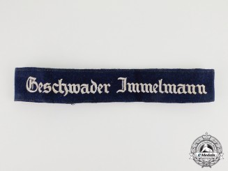 A Second War German Luftwaffe Geschwader Immelmann Cuff Title