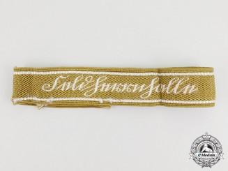 A Second War Wehrmacht Heer (Army) Feldherrnhalle Cuff Title