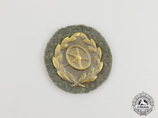 A Third Reich Period Gold Grade Wehrmacht Heer (Army) Driver's Proficiency Badge