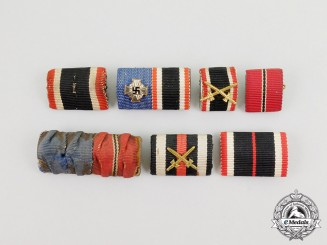 Seven First and Second War German Medal Ribbon Bars