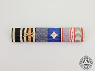 A First and Second War German RLB (Air Raid Protection) Merit Medal Ribbon Bar