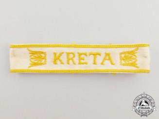 A Second War German Kreta Campaign Cuff Title
