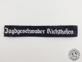 A Second War German Luftwaffe Jagdgeschwader Richthofen Officer's Cuff Title