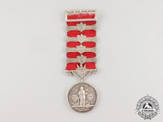 A New Zealand United Fire Brigades' Association Long Service Medal 1950-1963