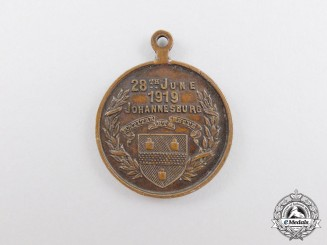 A Rare South African First War City of Johannesburg Medal 1914-1919