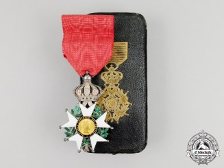 A French Legion D'Honneur; Knight, Second Republic 1852-1870 with Case