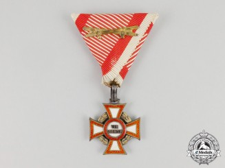 An Imperial Austrian Military Merit Cross 3d Class with War Decoration
