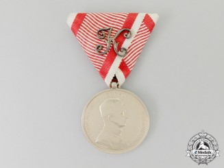 An Imperial Austrian Bravery Medal; First Class, Officier's Issue