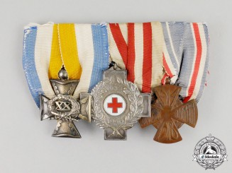 A Period & Fine Dutch Officer's Medal Bar