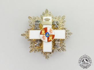 A Spanish Order of Military Merit; 3d Class Breast Star with White Distinction,