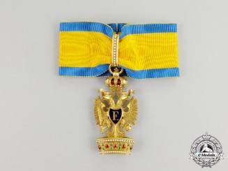 An Early Imperial Austrian Order of the Iron Crown in Gold; 2nd Class by Rothe, Wien