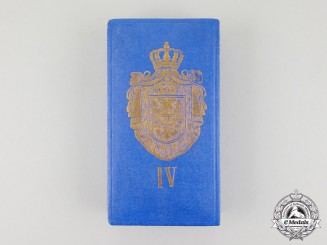 A French Made Case for the Serbian Order of St. Sava, 4th Class