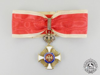 A First War Period Serbian Order of Karageorge; 3rd Class Commander by Bertrand, Paris