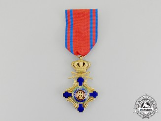 An Order of the Star of Romania, Knight with Swords under Crown 1877-1932
