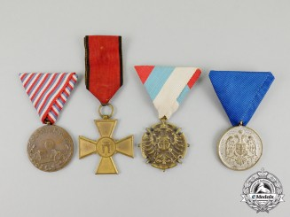 Four Serbian Awards & Decorations
