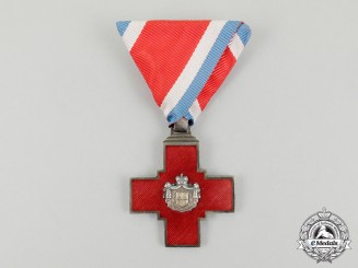 Serbia. A Decoration of the Red Cross 1876, Type I