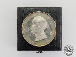 A Prussian Lifesaving Table Medal in Case c.1820