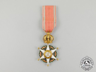 An Early & Fine Brazilian Order of the Rose in Gold; Knight c.1850