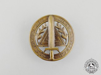 A Rare Second War Military Sports Badge of the V.N.V. (Vlaamsch National Verbond)
