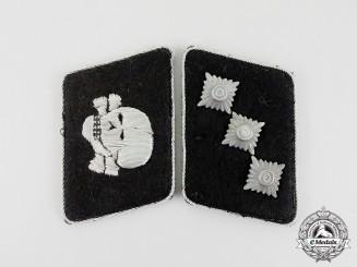 """A Fine Set of Waffen-SS """"Totenkopf"""" Division Untersturmführer Tabs"""