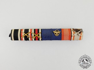 A First and Second War German Border Protection and Olympic Participation Medal Ribbon Bar