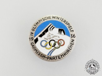 A 1936 Olympic Winter Games in Garmisch-Partenkirchen Badge