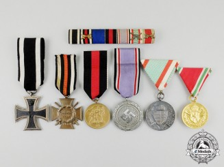 A First &  Second War German Medal Ribbon Bar Group with its Awards/Medals