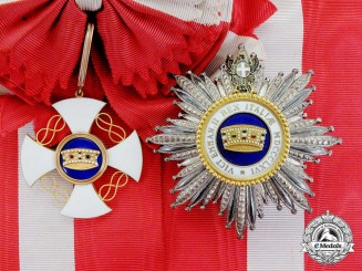Italy, Kingdom. An Order of the Crown, Grand Cross, to Vice Admiral Sir Lionel Halsey