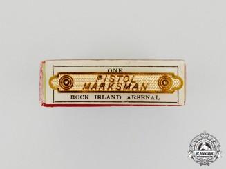 A Mint Rock Island Arsenal Pistol Marksman's Pin in Carton