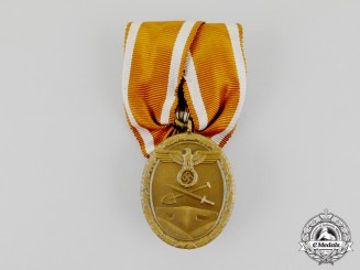 A Court Mounted Third Reich Period German Defence Wall (West Wall) Medal