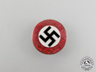 A NSDAP Party Member's Lapel Badge by Karl Wurster of Markneukirchen
