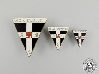 Three National Socialist Women's League Membership Badges