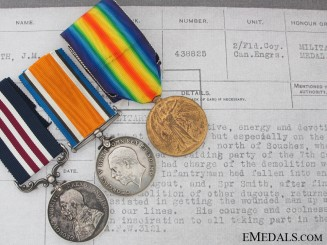 A Military Medal Group For a 1917 Trench Raid