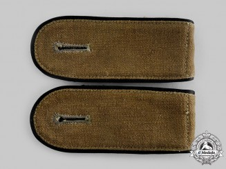 Germany, Third Reich. A Pair of Army (EM) Transport Troop Tropical Shoulder Straps