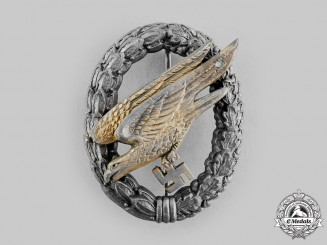 Germany, Luftwaffe. A Fallschirmjäger Badge, by Wilhelm Deumer, Ludenscheid