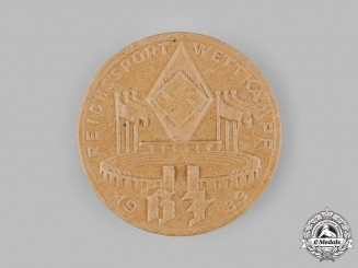 Germany, HJ. A 1939 HJ National Athletics Competition Badge