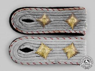 """Germany, Third Reich. A Rare Pair of SS Fachführer-Hauptsturmführer Stellengruppe """"K"""" Shoulder Boards"""