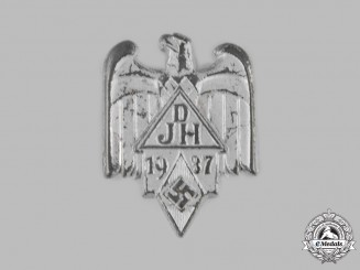 Germany, DJ/HJ. A 1937 Joint DJ and HJ Event Badge