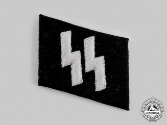 "Germany, Third Reich. A  Waffen-SS Mann's Collar Tab of ""Leibstandarte SS Adolf Hitler"""