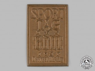 German, BDM. A 1937 League of German Girls (BDM) Württemberg Sports Day Badge