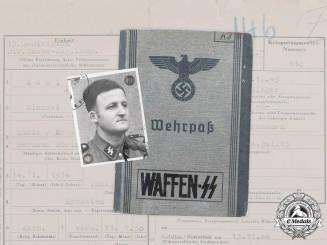 Germany, SS. A Pair of Documents to SS-Unterscharführer Michael Köhl, 13th SS Division Handschar, KIA