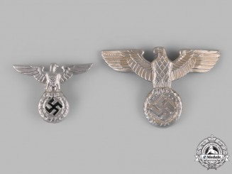 Germany, Third Reich. A Pair of Eagle Cap Insignia