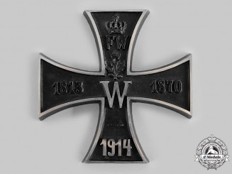 Germany, Imperial. An Iron Cross Patriotic Table Medal