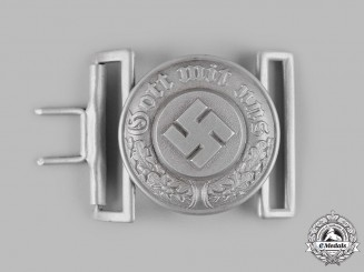 Germany, Ordnungspolizei. An Officer's Belt Buckle by Overhoff & Cie