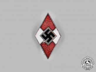 Germany, HJ. A Cap Badge, by Karl Wurster
