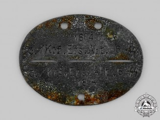 Germany, Heer. An Identification Disc, 3./Krf. Ers. Abt. 6