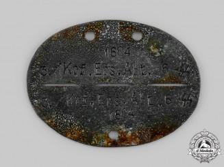 Germany, Heer. An Identification Disc, 3./Krf. Ers. Abt. 6
