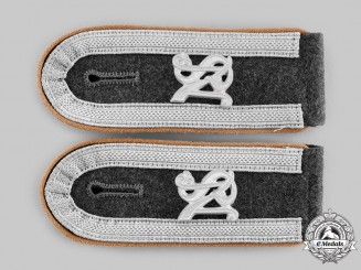 Germany, Luftwaffe. A Pair of Unteroffizier's Shoulder Straps; Signals Unit, Air Signals School