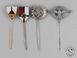 Germany, Third Reich. A Lot of Third Reich Stick Pins