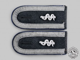 Germany, Luftwaffe. A Pair of Medical Unteroffizier Shoulder Boards